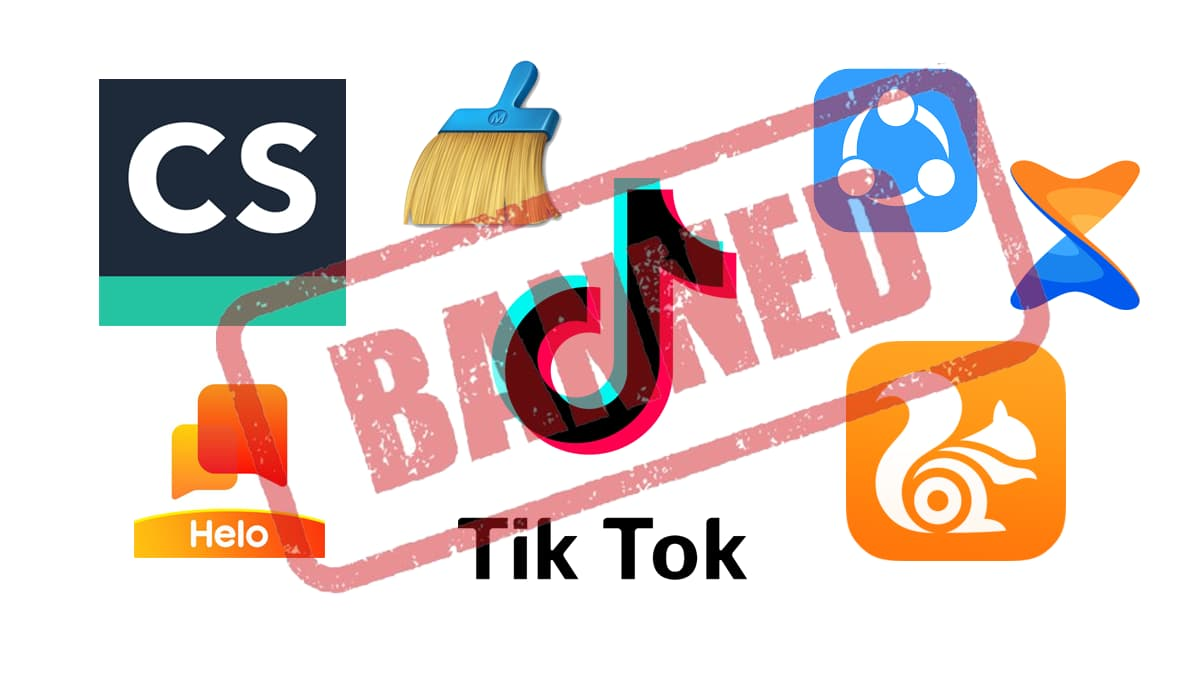 Banned Chinese Apps